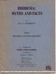 Rhodesia - Infotextmanuscripts.org