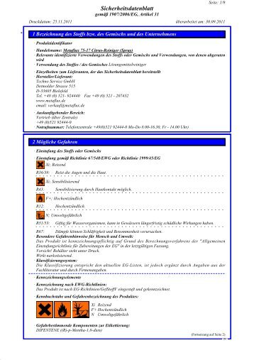 SDB Metaflux 75-17 Citrus-Reiniger-Spray