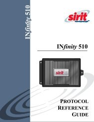 INfinity 510 Protocol Reference Guide - Sirit