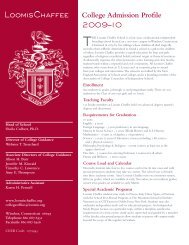 College Admission Profile 2009–10 - The Loomis Chaffee School