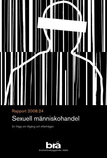 Sexuell människohandel - Brottsförebyggande rådet