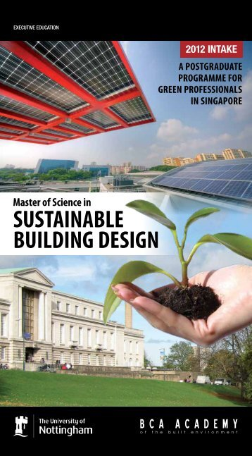 SUSTAINABLE BUILDING DESIGN - BCA Academy