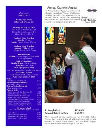 May 19, 2013 Bulletin - St. Joseph Parish