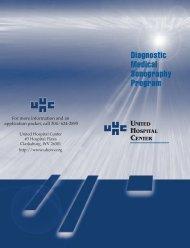 Diagnostic Medical Sonography Program - United Hospital Center
