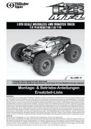 MT4 G3 1:8 4WD Brushless MONSTER 2000KV - Thunder Tiger