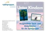 und Bilderbücher für die Spielgruppe - IG Spielgruppen