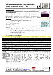 Descriptif Aérothermes Eau Froide monophasés EMAT - Type ...