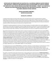 notice of application filing by california american water company to ...