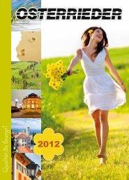 Jahreskatalog 2012 - Osterrieder Reisen