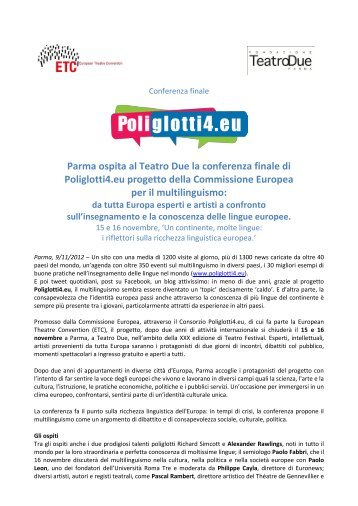 Civil Society Platform of the Structured Dialogue with ... - Poliglotti 4