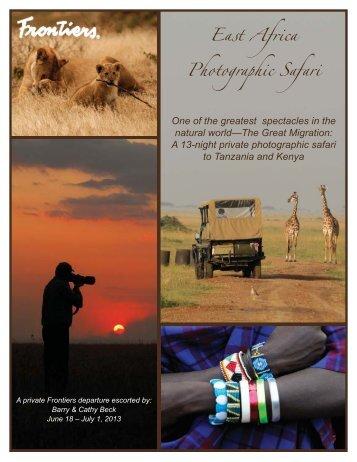 East Africa Photographic Safari_June 2013.indd - Frontiers Elegant ...