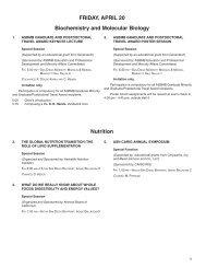Friday/Saturday - Experimental Biology