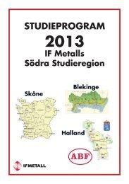 Studieregionens program för 2013 - IF Metall