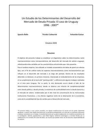 Un Estudio de los Determinantes del Desarrollo del Mercado de ...