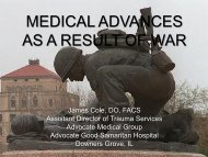 medical advances as a result of war - Advocate Health Care