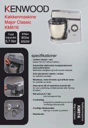 Køkkenmaskine Major Classic KM816 - Witt Hvidevarer A/S