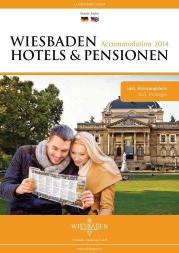 Hotels & Pensionen (PDF | 2,49 MB) - Landeshauptstadt Wiesbaden