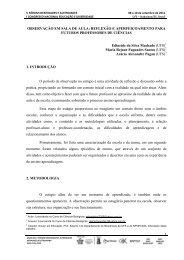 OBSERVAÇÃO EM SALA DE AULA: REFLEXÃO E ...