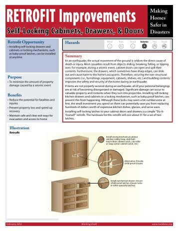 Self-Locking Cabinets, Drawers, & Doors