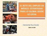 El reto del empleo en México - Secretaría de Gobierno