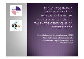 Diretoria Geral de Recursos Humanos /DGRH Diretoria ... - Unicamp