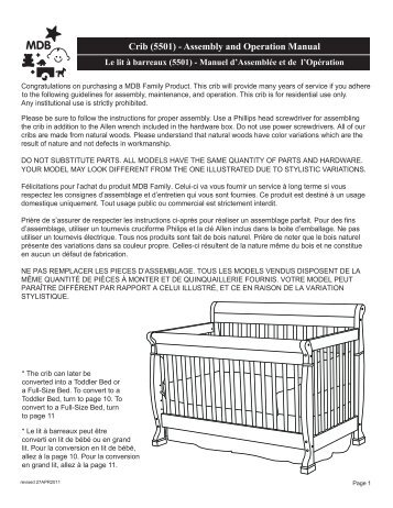 crib 7391 assembly and operation manual le lit davinci baby rh yumpu com Philips TV Manual Philips User Guides