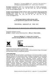 Rovral AquaFlo-nowa etykieta - BASF Polska