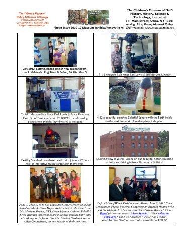 Photo Essay 2010-12 Museum Exhibits/Renovations - Children's ...