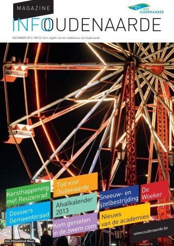 Infomagazine december 2012 - Stad Oudenaarde