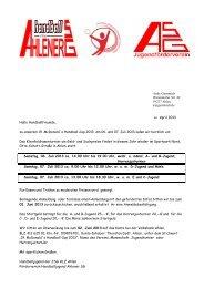 Andy Gummich Warendorfer Str. 49 59227 Ahlen a ... - Ahlener SG