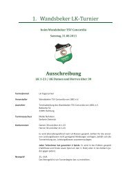 1. Wandsbeker LK-Turnier - Hamburger Tennis-Verband e.V.