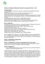 Referat af Rådsmøde den 13. december 2012 - BAR - jord til bord.