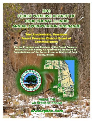 Download the 2013 Budget Recommendation - Forest Preserve ...