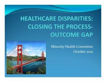 Minority Health Committee October 2010 - American College of ...