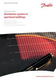 Distribution systems in apartment buildings