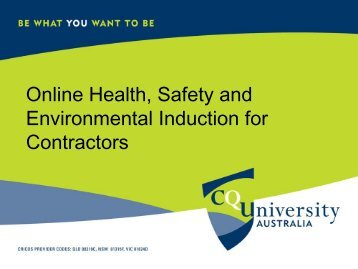 Online Health, Safety and Environmental Induction for Contractors