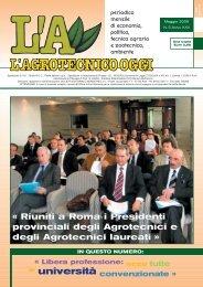 L'Agrotecnico Oggi maggio 05 - Collegio Nazionale degli Agrotecnici