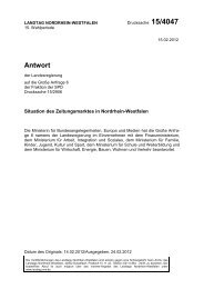 Antwort - SPD-Landtagsfraktion NRW