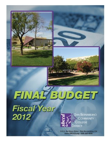 2011-12 Final Budget - San Bernardino Community College District