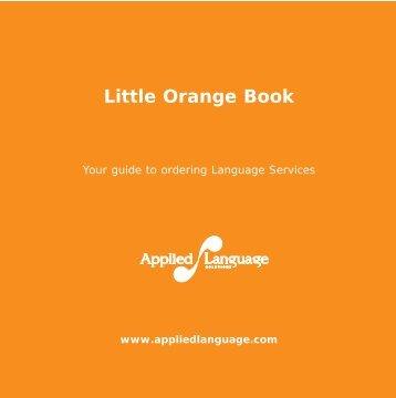 Orange instruction booklet - Mersey Care NHS Trust