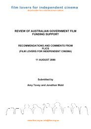 REVIEW OF AUSTRALIAN GOVERNMENT FILM ... - Office for the Arts