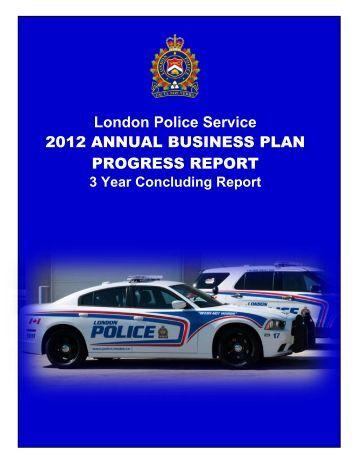 2012 Annual Business Plan Progress Report - London Police ...