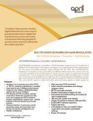 multiplexer+scrambler+qam modulator - April Digital Technology