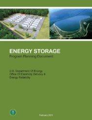 Energy Storage Program Planning Document - U.S. Department of ...