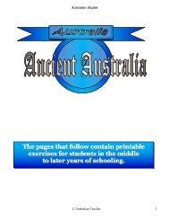 Ancient Australia - Australian Teacher