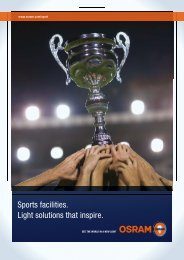 Sports facilities. Light solutions that inspire. - Osram