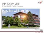 Folien Kundenanlass Präsentation komplett - Ausgleichskasse Luzern
