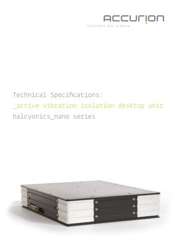 Technical Specifications: _active vibration isolation ... - H TEST a.s.