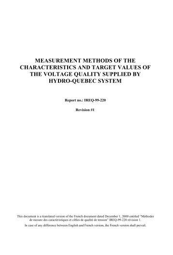 MEASUREMENT METHODS OF THE CHARACTERISTICS ... - Xitizap