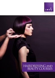 HAIRDRESSING and BEAUTY COURSES - City of Darebin
